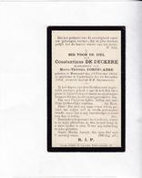 C.DEDECKERE °MERENDREE 1834  +VINDERHOUTTE 1902 (M.DOBBELAERE) - Devotion Images