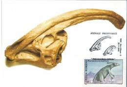 MAX 54 - 148 PARASAUROLOPHUS, Animal Prehistoric, Romania - Maximum Card - 2000 - Timbres