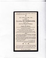 C. DE DOBBELEER °SCHEPDAEL 1849  +ST.MARTENS LENNIK 1924 (J. PLATTEAU - A.VAN BEVER) - Devotion Images