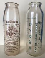BIBERON EN VERRE SERIGRAPHIE ANNEES 1940 LOT DE 2 BIBERONS EPY PYREX - Verre & Cristal