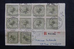 CONGO BELGE - Enveloppe En Recommandé De Bukama En 1925 , Affranchissement Plaisant  - L 62735 - Congo Belge