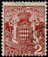 Monaco Obl. N°   74 - Armoiries -  Le 2c Brun-rouge - Oblitérés