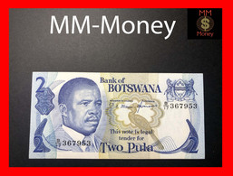 BOTSWANA 2 Pula 1982  P 7 Sig. Mmusi-Hermans  UNC- - Botswana