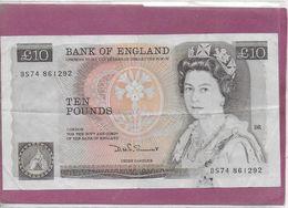 UK BANK OF ANGLAND  10 Pounds - 1952-… : Elizabeth II