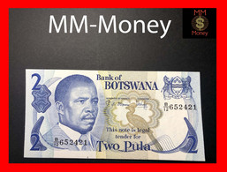 BOTSWANA 2 Pula 1982  P 7 Sig. Mmusi-Kikonyogo  XF - Botswana