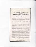 M.DE BLOCK °BAVEGEM 1891  +DEINZE 1954 (C.DE DOBBELAERE) - Devotion Images
