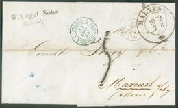 LSC De MALMEDY (Cantons De L'Est) Le 10-2 1859 Vers Mareuil (F); Dc PRUSSE 3/VALENCIENNES Et Taxe De '5' Décimes (au Tam - Marcophilie