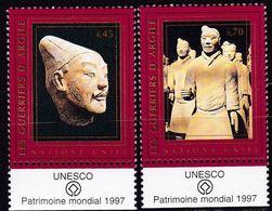 UNO-Genf, 1997, 321/22, MNH **, UNESCO, Welterbe, Terrakotta Soldaten. - Geneva - United Nations Office