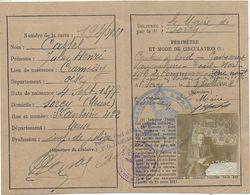54 SORCY CARTE DE CIRCULATION DANS LA ZONE DES ARMEES - Documentos Históricos
