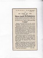 M.DE DOBBELAERE °KNESSELARE 1885 +ZOMERGEM 1946 - Devotion Images