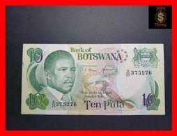 BOTSWANA 10 Pula 1982  P 9 Sig. Mmusi-Hermans  Cut -ink  VF - Botswana