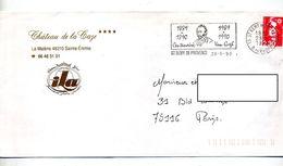 Lettre Flamme Saint Remy Centenaire Van Gogh - Storia Postale