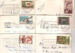 COTE D'IVOIRE : Lot De 6 Lettres, Format Carte De Visite,  Pour La France - Voir Scan - Côte D'Ivoire (1960-...)