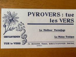 1 BUVARD PYROVERS - Produits Pharmaceutiques