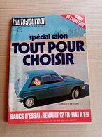 L'auto-journal - Oct. 1973 - Peugeot 104 Coupé ; Renault 12 TR ; Fiat X1/9 - Auto/Moto