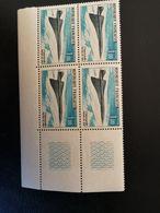 FRANCE 1969 PA 43 POSTE AERIENNE 43 PREMIER VOL  CONCORDE. Coin Bas Droit. - France