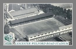 CARTE DE STADE . LEICESTER  ANGLETERRE   WELFORD ROAD  STADIUM  ANNEE 50    # DM. 014 - Football