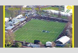CARTE DE STADE . MELROSE  ECOSSE  THE  GREENYARDS       # DM. 013 - Football