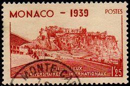 Monaco Obl. N°  198 - Le Rocher Et Stade Louis II - 1f25 Rouge-brique - Oblitérés