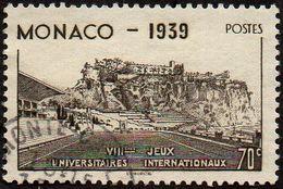 Monaco Obl. N°  196 - Le Rocher Et Stade Louis II - 70c Brun-noir - Oblitérés
