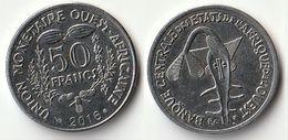 Pièce De 50 Francs CFA XOF 2016 Origine Côte D'Ivoire Afrique De L'Ouest - Côte-d'Ivoire