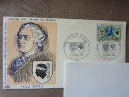 1968  Rattachement De La Corse à La France  Pascal Paoli  Y&T= 1572  (adresse Cachée)  Parfait état - 1960-1969