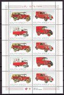 South Africa 1999 - Historical Mail Vehicles, Min. Sheet - Michel 1184-87 -  MNH, NEUF, Postfrisch - South Africa (1961-...)