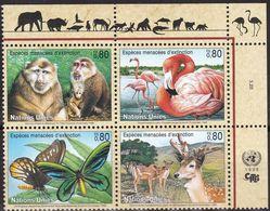UNO-Genf, 1998, 330/33,  MNH **, Gefährdete Arten (VI): Fauna. - Nuevos