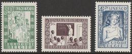 Belgie Belgique 1951 OCBn° 842-844 *** MNH Cote 25 Euro UNESCO - Neufs