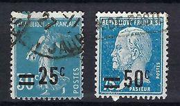 FRANCE 1927: Les Y&T 217, 219, Obl. - Variedades Y Curiosidades