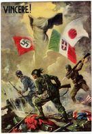 MILITARI - VINCERE! - ASSOCIAZIONE NAZ. COMBATTENTI - FEDERAZIONE PROV. DI MILANO - PITTORE ALBERTO AMONICO -Vedi Retro - Weltkrieg 1939-45
