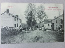 Juzaine Durbuy Route De Manhay Edit. Desaix Aywaille 1908 Rue Animée Charrette Bomal Vers Fontin Esneux - Durbuy