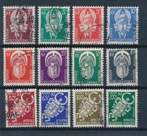 AOF - SERVICE N° 1/12 OBLITERES - 1958 - A.O.F. (1934-1959)