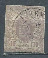 Luxembourg YT N°17 Armoiries Oblitéré ° - 1859-1880 Armarios
