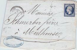 FRANCE - FRAGMENT 20C - MULHOUSE //T7 - 1853-1860 Napoléon III