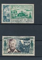 CAMEROUN - POSTE AERIENNE N° 44/45 OBLITERES - 1954/55 - Poste Aérienne