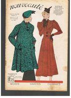 Nouveauté N°9  De 1937 Modes Variétés Ouvrages Spécial Trois-Quarts Avec Patron - Designermode