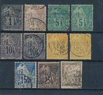EMISSIONS GENERALES - ALPHEE DUBOIS N° 46+48+49X2+50X2+53X2+51+54+T19 - 1881/1908 - Alphée Dubois