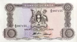 Uganda 10 Shillings, P-2a (1966) - UNC - Uganda