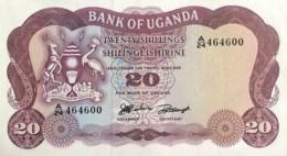 Uganda 20 Shillings, P-3a (1966) - UNC - Uganda