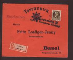 Lettre Obl. Freihung 16.07.1915 > Fritz Loeliger-Jenny Basel - Zensur/Censored/Censure Nürnberg+ Signature De Censeur. - Germany