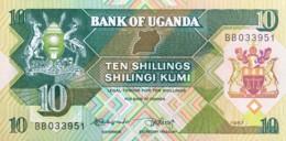 Uganda 10 Shillings, P-28 (1987) - UNC - Uganda