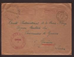 Lettre Dépôt 102 Obl. Colmar 03.03.1947->CICR Genève - Différents Cachets + Zensur/Censored/Censure Du Camp Nr 7 - Marcophilie (Lettres)