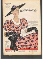 Nouveauté N°11  De 1937 Modes Variétés Ouvrages Spécial Blouse Avec Patron - Designermode