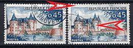 FRANCE 1961: Le Y&T 1313,  Obl. CAD , Variété ''2 Fenêtres Bleues à La Tour Du Milieu'' Pour Le TP De Droite - Errors & Oddities