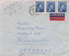CANADA - AIRMAIL LETTER 1952 MONTREAL - DÜSSELDORF/GERMANY //T12 - 1937-1952 George VI