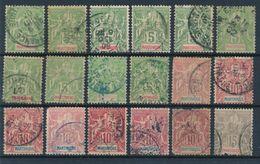 MARTINIQUE - N° 44X10+45X7+46 OBLITERES - 1899/1906 - Martinique (1886-1947)