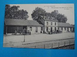 """71 ) Montceau-les-mines - N° 43 - La Gare  """" Attelages """": Année  : EDIT : B.F - Montceau Les Mines"""