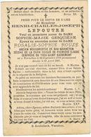 Warneton - Bas-Warneton   - Doodsprentje Van LEPOUTRE Henri-Marie - BURGEMEESTER  + 1885 - Godsdienst & Esoterisme