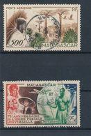 MADAGASCAR - POSTE AERIENNE N° 72/73 OBLITERES - 1949/52 - Poste Aérienne